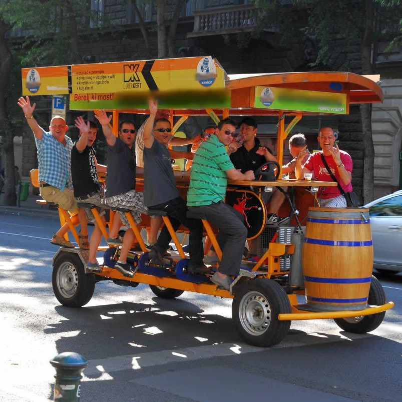 beer bike around city centre of Bucharest